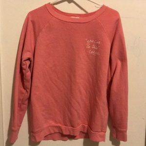 Pink Old Navy Crew Neck Sweatshirt